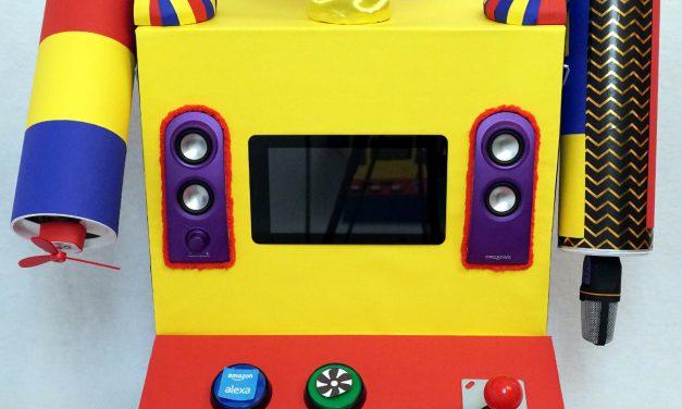 Raspberry Pi Kinder Roboter – Gestaltung des Körpers mit Roboterarm