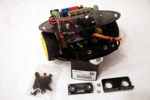 DFROBOT Mobile Platform - Zusammenbau Servo Motor vs Batterie