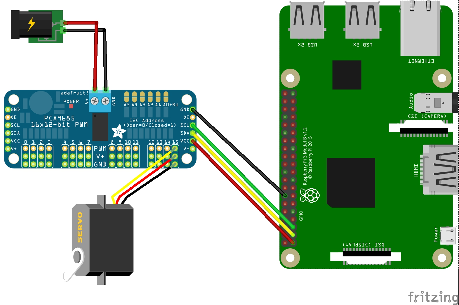 SainSmart 6-Axis Desktop Robotic Arm - Raspberry Pi wiring ...