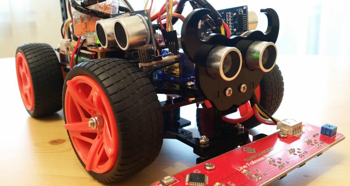 Sunfounder roboter auto picar s bausatz u zusätzliche ultraschall