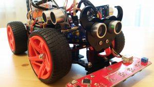 SunFounder-PiCar-S - zusätzliche Ultraschall Sensoren Detailsicht
