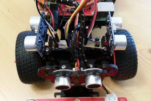SunFounder-PiCar-S - zusätzliche Ultraschall Sensoren Verkabelung