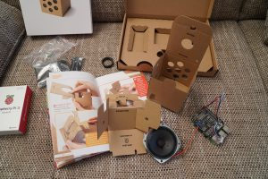 Raspberry Pi Google AIY voice kit assembly 2