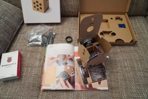 Raspberry Pi Google AIY voice kit assembly 1