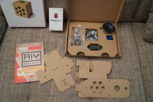 Raspberry Pi Google AIY voice kit cardboard