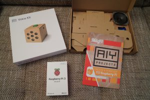 Raspberry Pi Google AIY voice kit unboxing