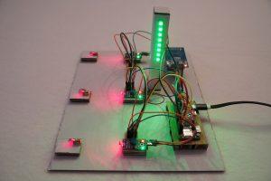 Raspberry Pi Laser Lichtschranke Startampel grün