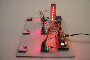 Raspberry Pi Laser Lichtschranke Startampel rot