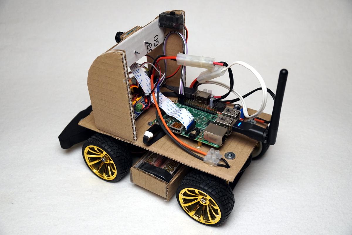 autonom fahrendes raspberry pi ki roboter auto. Black Bedroom Furniture Sets. Home Design Ideas