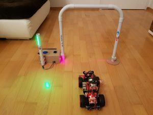 Roboter Auto Rundenzeit messen - mobile Lichtschranke