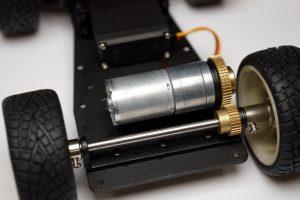 Self-Driving AI Raspberry Pi Roboter Auto - DC Motor Antrieb