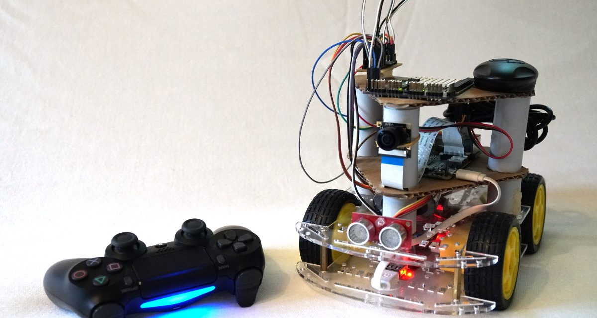 Playstation PS4 Controller Roboter-Steuerung mit Pygame