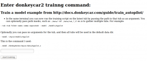 Donkeycar Docker Web Interface