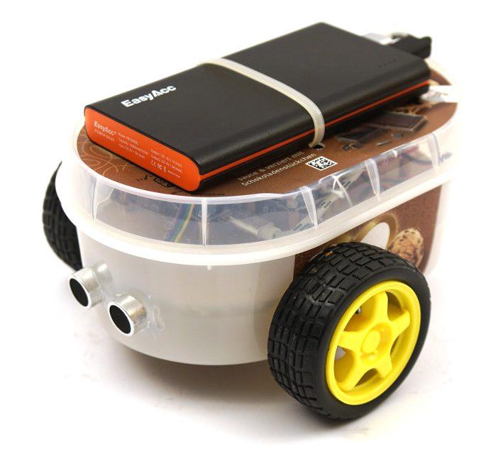 Roboter bauen mit dem ESP8266 Entwicklungsboard – Ultraschall Sensor und Motorensteuerung