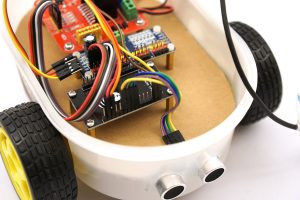 ESP8266 NodeMCU - robot car HS-SR04 ultrasonic sensor