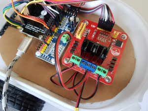 ESP8266 NodeMCU robot car PCA9685 power wire