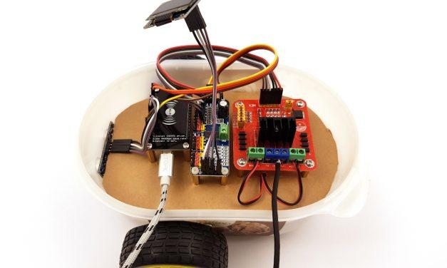 Roboter bauen mit dem ESP8266 Entwicklungsboard – OLED Display