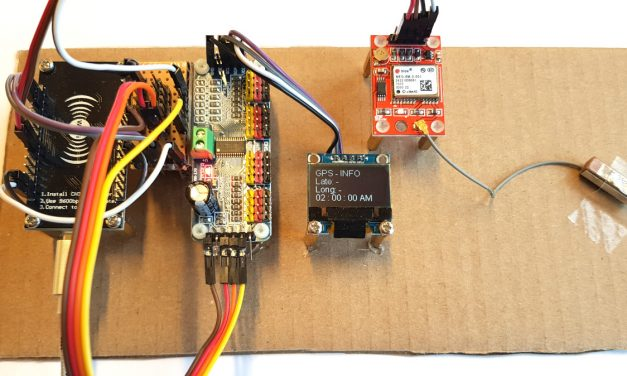 Building robots with the ESP8266 development board – GPS receiver introduction