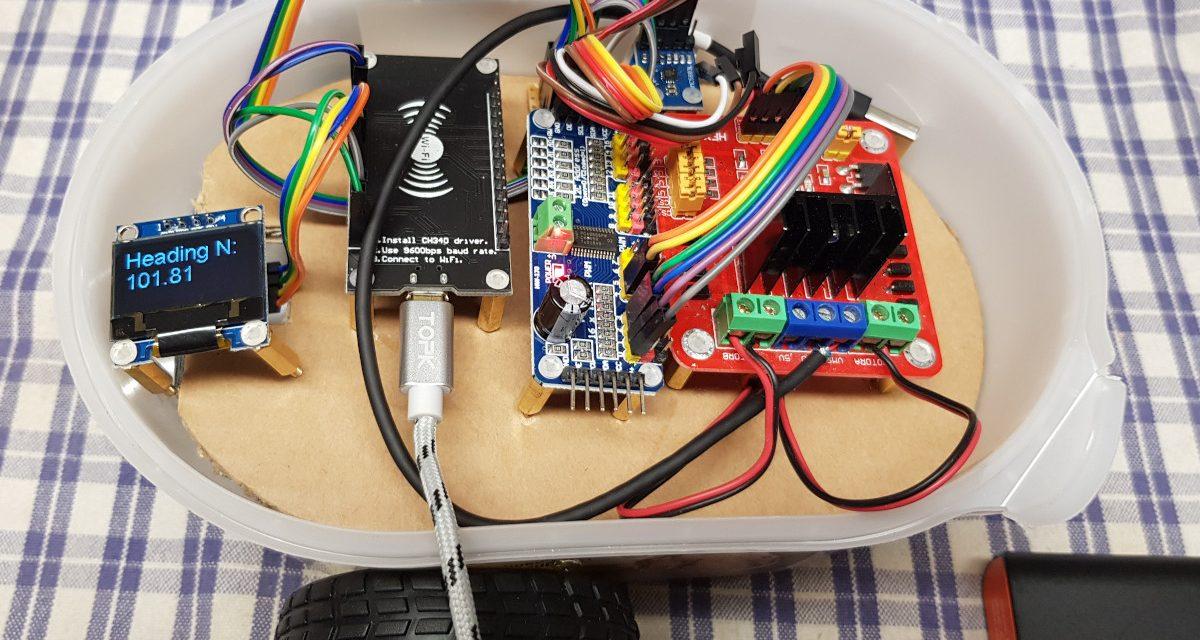Roboter bauen mit dem ESP8266 Entwicklungsboard – Magnetometer