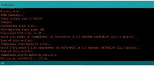 ESP32-CAM Arduino IDE Upload Status