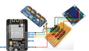 ESP32-CAM I2C-Hub connection devices