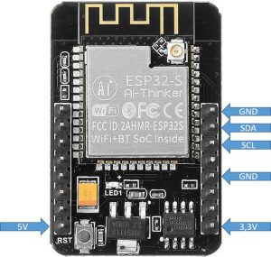 ESP32-CAM I2C connection