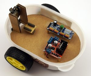 ESP32-CAM robot electronic components