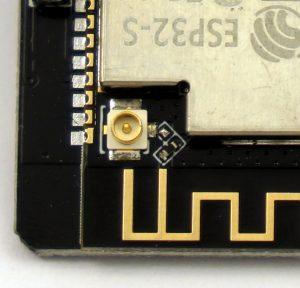 ESP32-CAM-WIFI external antenna jack