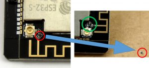 ESP32-CAM-WIFI external antenna jack clean soldering pads