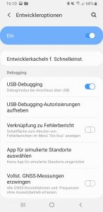 Android Smartphone activate USB debugging