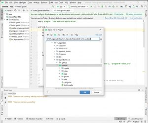 Android Studio Open File or Project