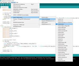Arduino IDE config