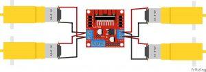 L298N gear motor wiring