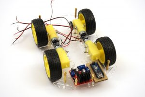OpenBot chassis build DC gear motors and electronics