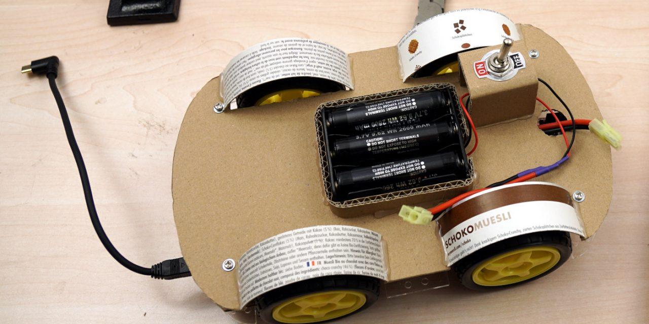 OpenBot – Dein Smartphone steuert ein Roboter Auto – Chassis bauen