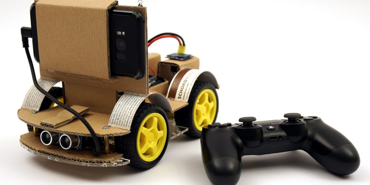 OpenBot – Your smartphone controls a robot car – constructing a chassis